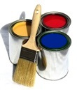 Painting Company Bush and Can Logo