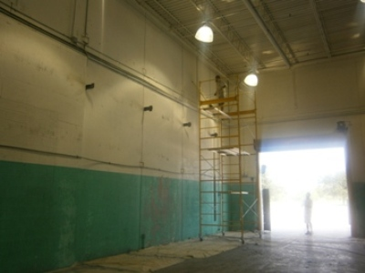 warehouse bay area after interior painting