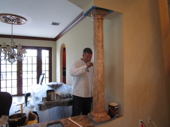 Faux Marble Column Work