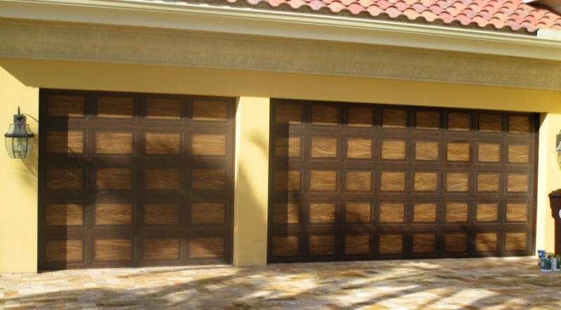 Faux Wood Grain - Ibis Garage Doors