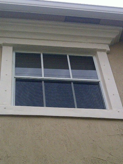 Stucco Band Repair After Painting