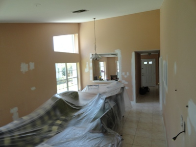 Interior Painting Before