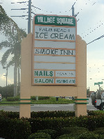Painted Tequesta Sign
